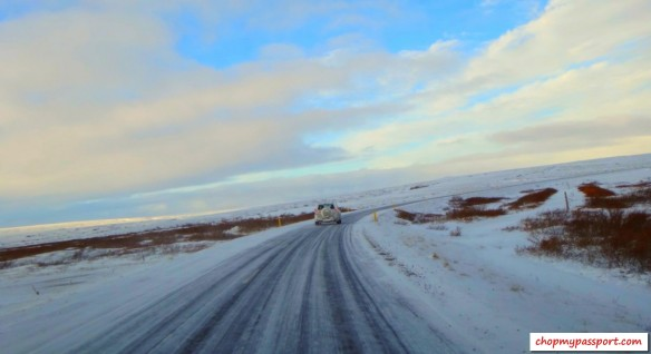 Iceland self drive Akureyri to Reykjavik harsh winter road conditions