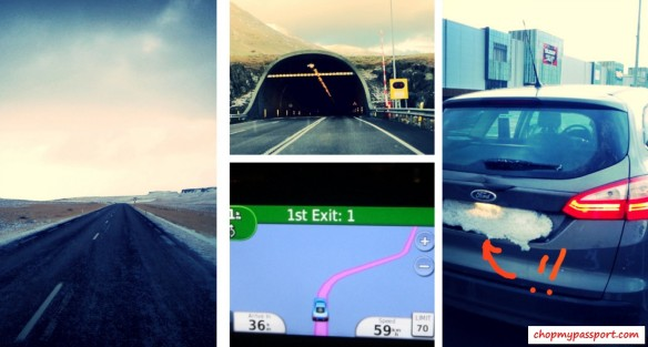 Iceland self drive Akureyri to Reykjavik underground tunnel GPS