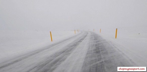 Iceland self drive Egilsstaoir to Myvatn poor visibility winter road conditions blizzard