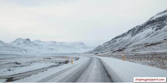 Iceland self drive Hofn to Egilsstaoir winter driving conditions