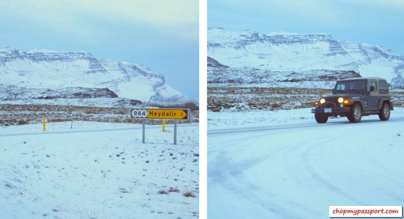 Iceland self drive Hofn to Egilsstaoir winter road conditions snow rent a 4WD
