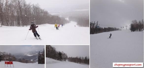 ski @ appi aspirin snow fine snow flakes
