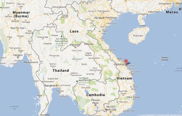 Hoi An Cua Dai Vietnam map