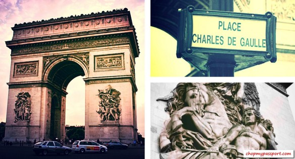 Paris Arc de Triomphe Monuments Sculptures Reliefs Bird's eye view