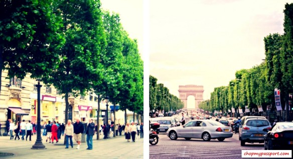 Paris Champs-Elysées Shopping Street Cafes Food Romantic