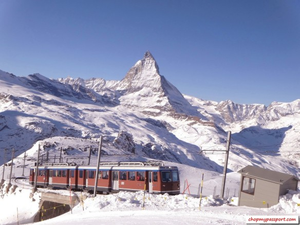 Ski Zermatt Railway Train Gornergrat Furi Klein Matterhorn